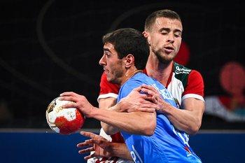 Maxi De Agrela, gran partido contra Hungría