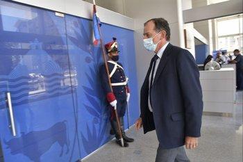 Archivo.Guido Manini Ríos ingresando a Torre Ejecutiva
