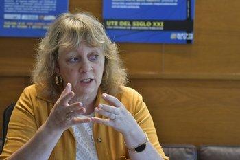 La presidenta de UTE, Silvia Emaldi.