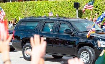 Tras dejar la presidencia el pasado 20 de enero, Donald Trump fue recibido por sus seguidores en Palm Beach.