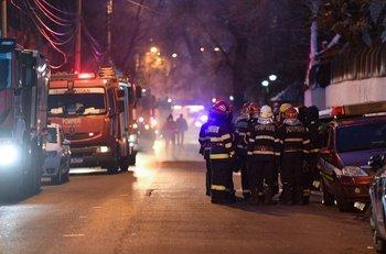 Incendio en un hospital de Rumania
