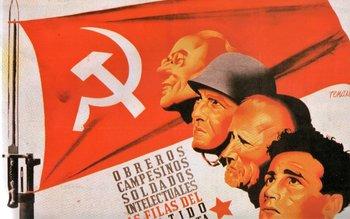 Propaganda del Partido Comunista en la Guerra Civil Española, obra del valenciano Josep Renau