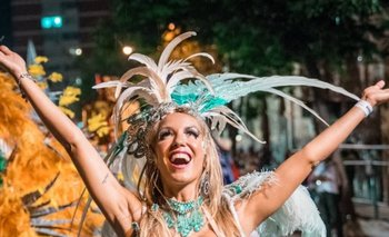 La conductora de televisión Andy Vila el sábado en el Desfile de Llamadas