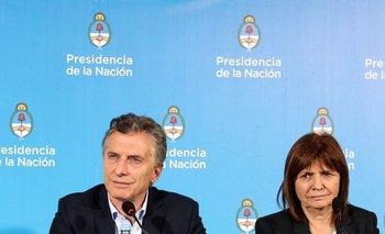 Bullrich fue la ministra de Seguridad del gobierno de Macri