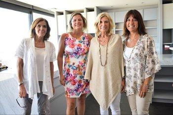 Cecilia Torrendell, Andrea Bellolio, Cristina Giuria de Berenbau y Ana Durán
