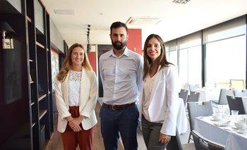Camila Nicolich, Andrés Fernández y Mariana Sabagno