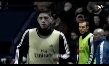 La cara de Bale cuando se venía el cambio de Valverde