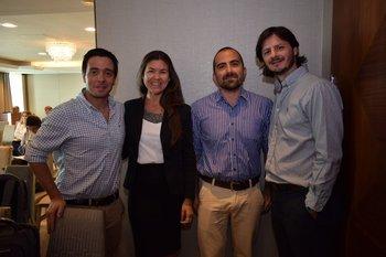 Adrian de Mello, Carolina Estevez, Manuel Bedat y Renzo Paolini