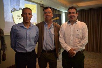 Alejandro Barboni, Marcelo Recagno y Leonardo Costa