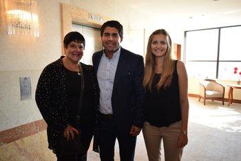 Carina Godoy, Fernándo Garcia y Alejandra Ramella