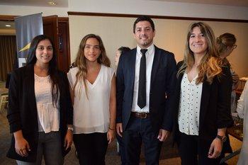 Inés Eibe, Nadine Bruck, renxo Mionetto y Mercedes Oliver