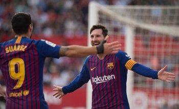 Lio Messi y Luis Suárez