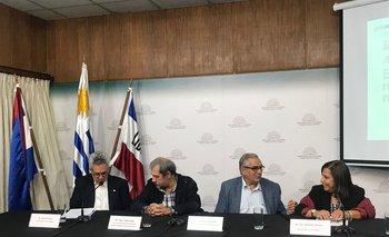 Vicente Plata, José Olascuaga, Enzo Benech y Alejandra Sarquis