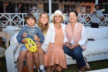 Jacinto y Florencia Arocena, Verónica Alonso y Mariana Rivero