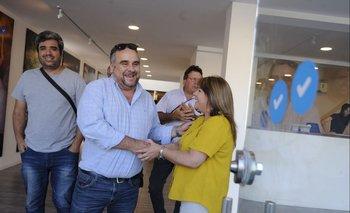 El secretario general de COFE, José Lorenzo López, este lunes en la sede del gobierno electo
