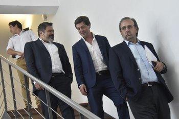 Gastón Tealdi, Ignacio Ruglio y Jorge Casales