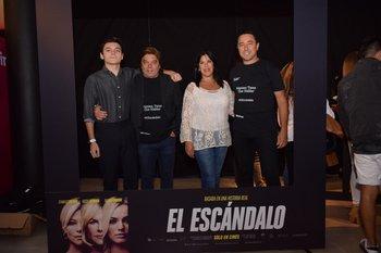 Matias y Álvaro Marchand, Lourdes Rapalin y Álvaro Padin