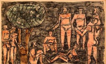 Sin título, 1968 Lápiz, tinta y acuarela sobre papel, 31 x 47,5 cm Colección privada, Montevideo