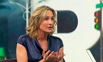 La candidata a la IMM por la coalición multicolor, Laura Raffo, este lunes en Telemundo