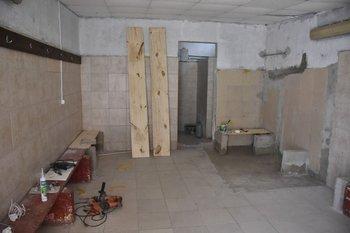 Baño del vestuario visitante de Progreso