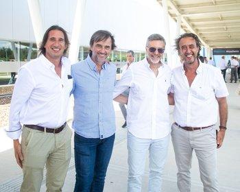 Héctor Novogrebelsky, Ignacio Ospeitaleche, Fabio Debitonto y Eduardo Lasarvia