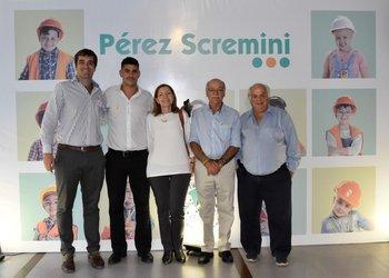 Fundación Perez Scremini y representantes de MacroMercado.Guzmán Nión, Carlos Sastre, Graciela Braica, Dr. Luis Castillo e Isaac Mejlovitz
