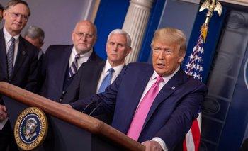 El presidente Donald Trump dio una conferencia de prensa para explicar la situación del coronavirus en su país