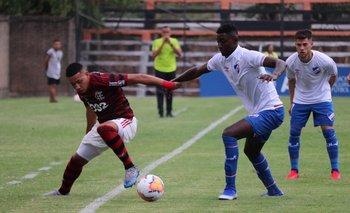 Andrés Copete, zaguero juvenil de Nacional, en la Copa Libertadores sub 20 2020