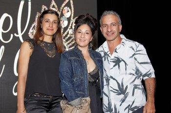 Fabiana Cabrera, Simonette Lion y Leonardo Marachlian
