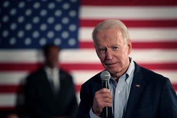 Joe Biden durante un discurso en Baja California Sur