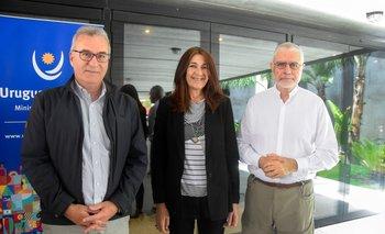 Carlos Fagetti, Hyara Rodriguez y Benjamín Liberoff