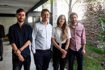 Hernan Balda, Diego Wallerstein, Melina Servañi y Juan Vilizzio