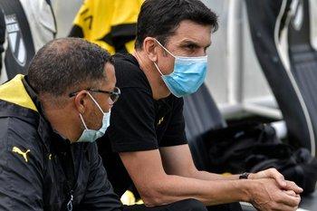 Mauricio Larriera mostró su autocrítica por el juego del equipo