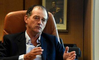 El senador Guido Manini Ríos durante la entrevista