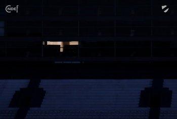 """El palco del """"Morro"""" García iluminado"""