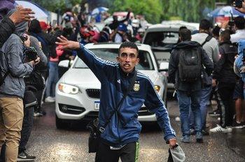 Así fue la despedida de los hinchas de Godoy Cruz en Mendoza