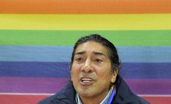 El candidato presidencial ecuatoriano Yaku Pérez durante una rueda de prensa