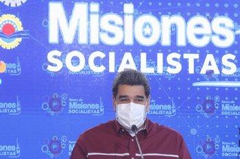 El venezolano Nicolás Maduro durante un discurso en Caracas