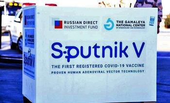 Cargamento de la vacuna contra el covid-19 Sputnik V
