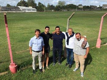 Los socios de la SAD de Colón con Pablo Pereira, el referente en la cancha