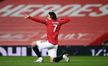 Edinson Cavani rompió una maldición en Manchester United