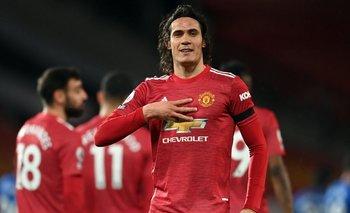 Edinson Cavani en Manchester United