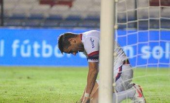 La desazón de Gonzalo Bergessio tras el empate frente a Plaza
