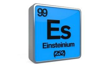 Dibujo de Einsteinium, el nuevo elemento de la tabla periódica.