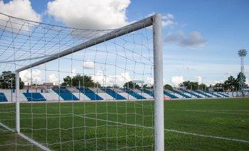 El Estadio Ubilla de Melo en el día del prtido entre Cerro Largo FC y Wanderers.