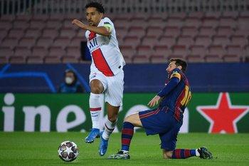 Marquinhos y Leo Messi