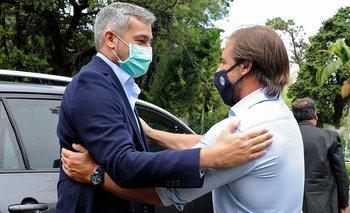 Lacalle recibió a su par paraguayo, Abdo Benítez, en la residencia presidencial de Punta del Este