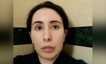 Una captura de uno de los reveladores mensajes en video que la princesa Latifa mandó en secreto, obtenidos por BBC Panorama