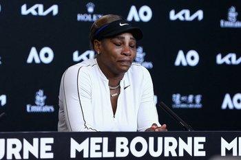 Serena Williams lloró en su conferencia