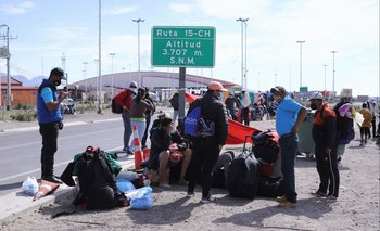Migrantes venezolanos en la frontera de Bolivia y Chile